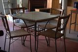 Wicker Glass Top Table & 4 Chairs