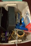 Caulk Gun & Assorted Hardware