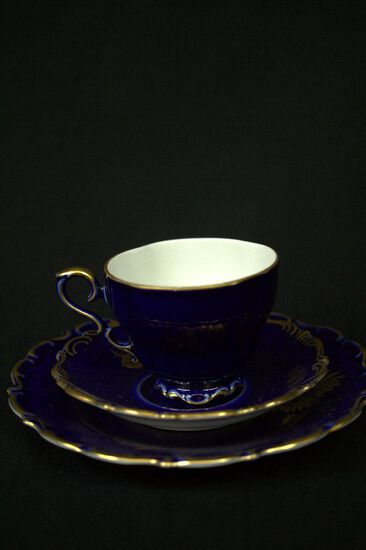 Cup + Saucer Set, 2 Single Cups & Saucers, Single Tea Service