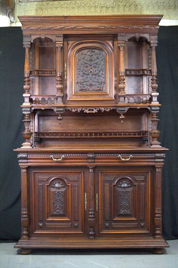 German 2 Piece China Cupboard