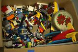 Large Box of Assorted Legos With Building Manuals For Legos