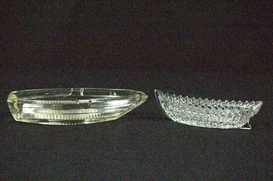 2 Glass Boat Trays