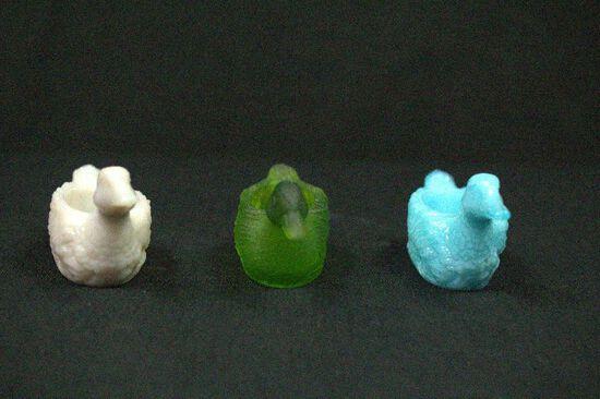 3 Glass Duck Bowls