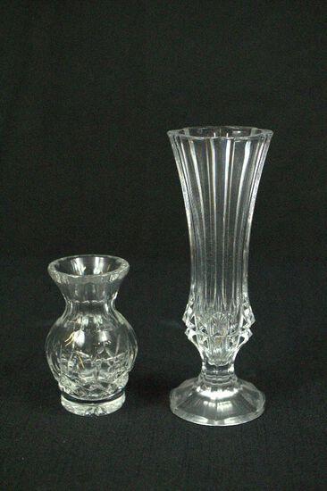 2 Crystal Vases