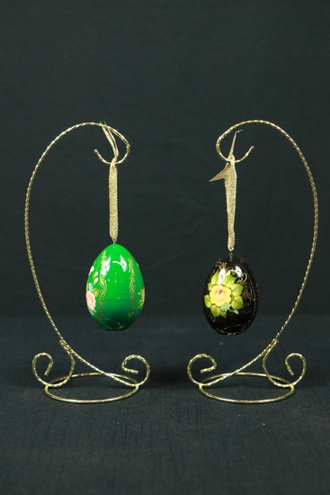 2 Hanging Decorative Eggs