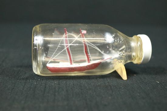 Handmade Glass Ship In Bottle