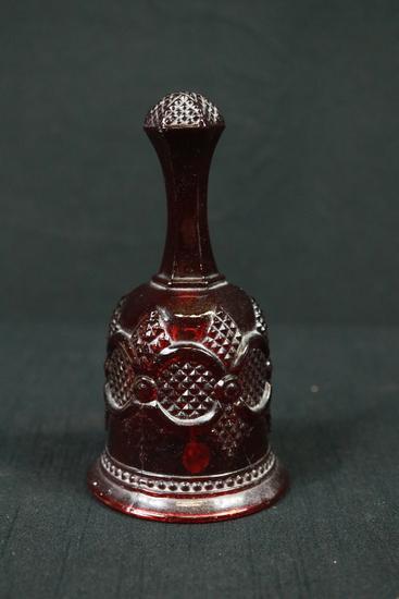 Glass Cranberry Bell