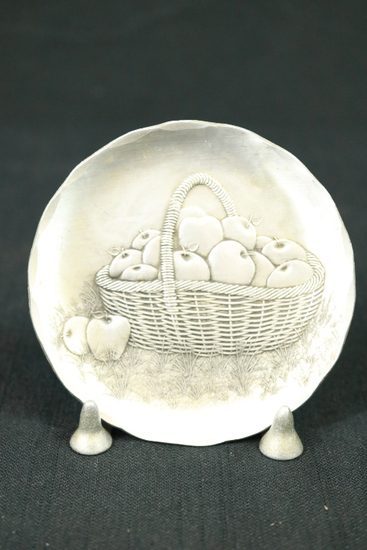 Pewter Plate With Stand