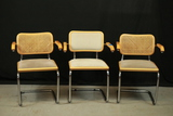 3 Modern Metal & Wood Chairs