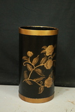 Floral Hand Painted Wooden Trash Can