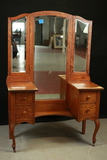 Oak Vanity With Mirror
