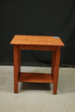 Oak Table With Shelf