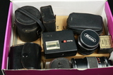Box of Assorted Camera Lenses/Accessories