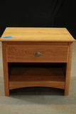 Oak Finish Night Stand With Drawer