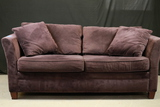 Plum Velvet Sleeper Sofa