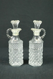 Pair of Pressed Glass Cruets