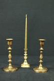3 Brass Candlesticks