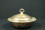 Silver Plated Covered Round Serving Bowl