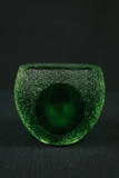 Green Art Glass Candle Holder