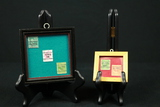 2 Small Frames With Stamps