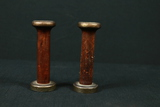 Pair of Wooden Thread Spools