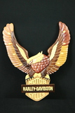 Harley Davidson Wooden Eagle Plaque
