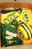 Box of Green Bay Packers Items