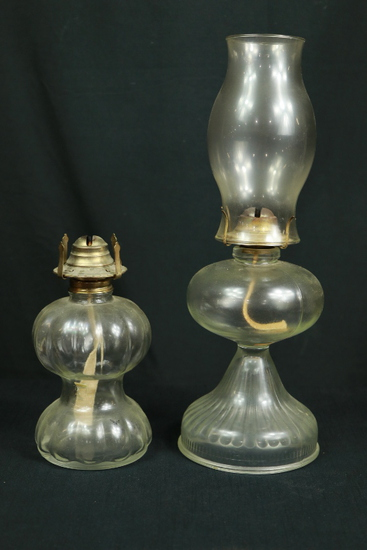 2 Oil Lamps one with Shade