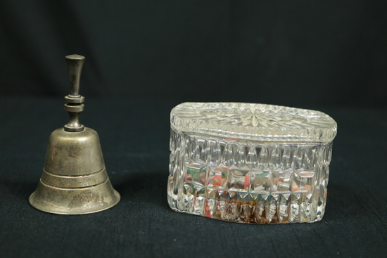 Silver Plated Bell, Covered Dish