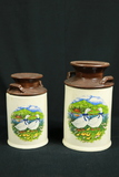 2 Milk Can Style Canisters