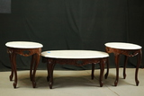 Marble Top Coffee Table & 2 End Tables