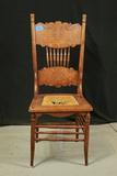 Oak Cane Bottom Chair