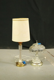Crystal & Brass Lamp, Glass Lamp