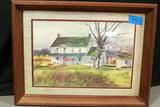 Framed Farm House Print