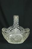 Cut Glass Basket