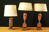 Pair of Lamps & Single Lamp