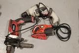 Palm Sander, & 2 Electric Drills