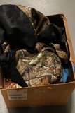 Box with Camo Seat Cover