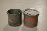 2 Galvanized Minnow Buckets