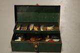 Metal Tackle Box & Contents