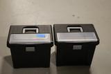 2 Plastic File Boxes