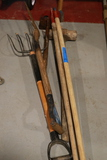 3 Hoes, Sledgehammer, 2 Pitchforks