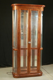 Glass Display Cabinet with Glass Shelves