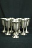 8 Leonard Pewter Goblets