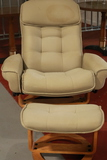 Modern Reclining Chair with Ottoman