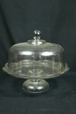 Covered Glass Cake Stand