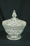Pressed Glass Covered Dish