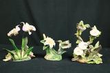 3 Hummingbirf Figurines