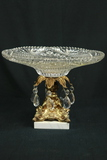 Crystal Bowl with Prisms & Marble Base