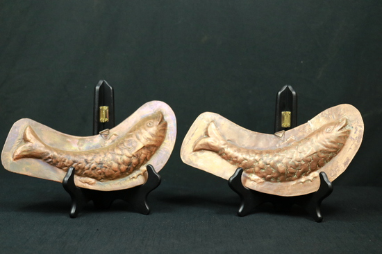 2 Copper Fish Trays